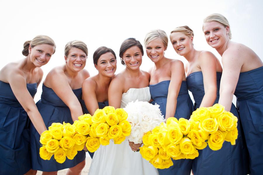 Navy and Yellow Nautical Wedding