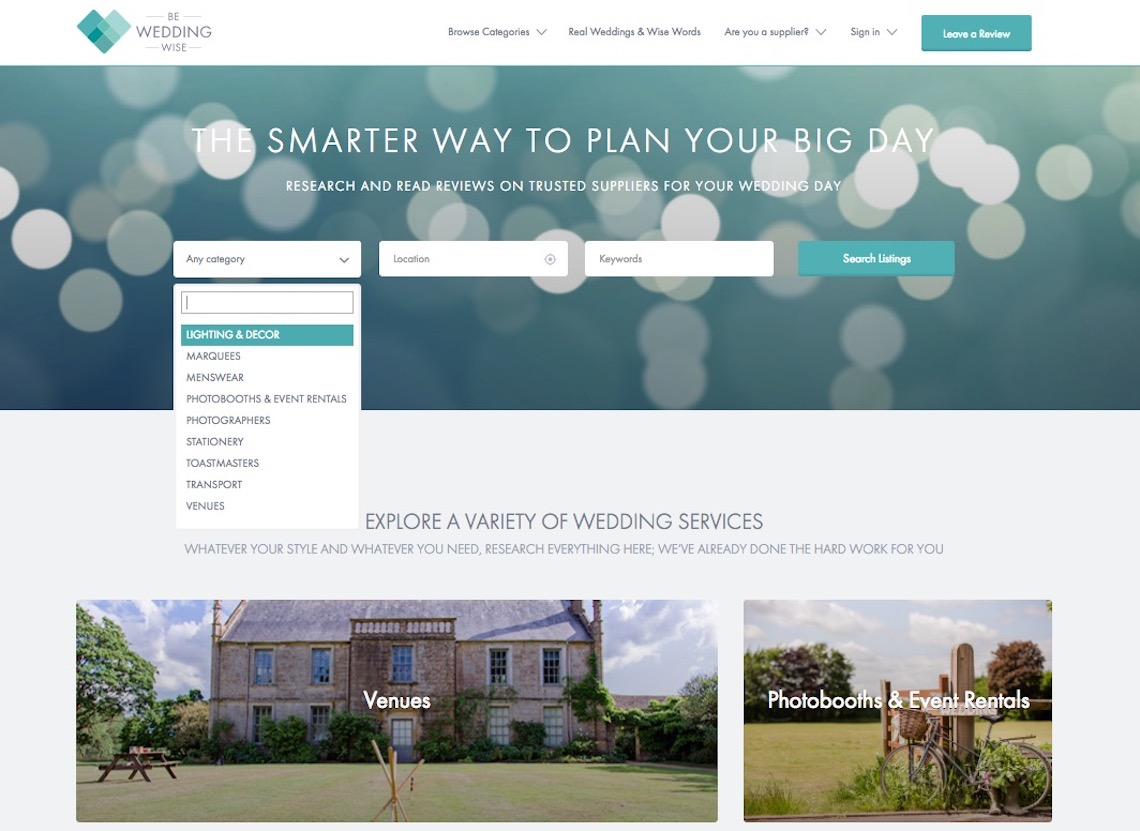 Be Wedding Wise Uk wedding review site