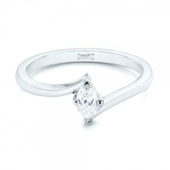 Custom Solitaire Diamond Engagement Ring