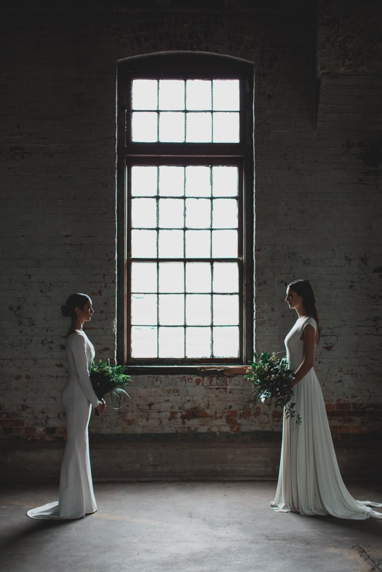 Moody & Modern Warehouse Wedding Inspiration by Jonathan Kuhn Photography 31