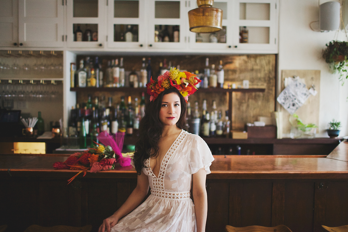 Cool Fiesta Wedding Inspiration by Claire Eliza Photography and High Violet Flowers 30