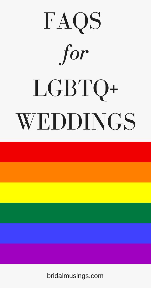 FAQs for LGBTQ Weddings
