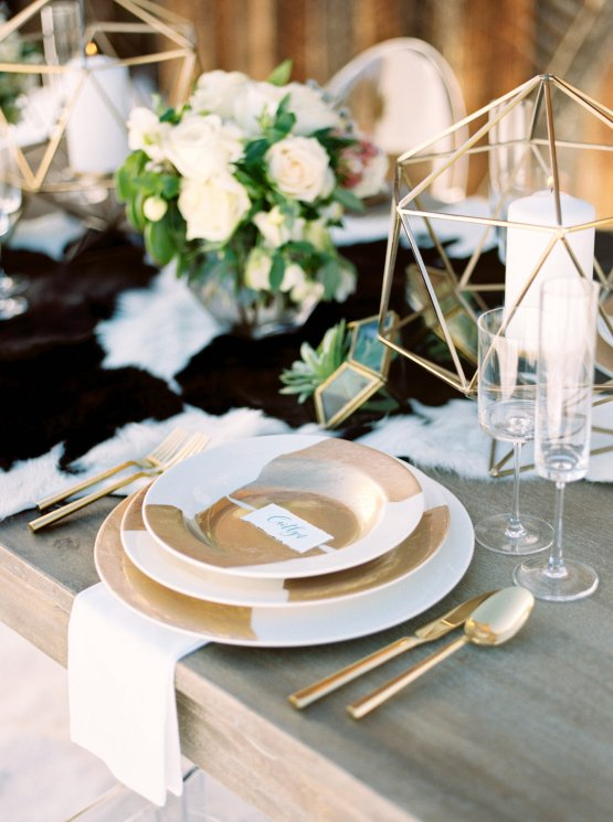 Contemporary Winter Wedding Inspiration by Rachel Havel and Bluebird Productions 23