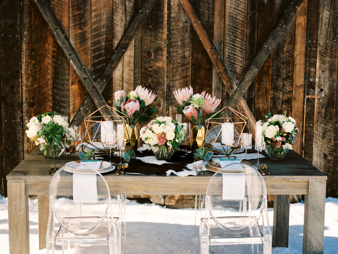 Contemporary Winter Wedding Inspiration by Rachel Havel and Bluebird Productions 25