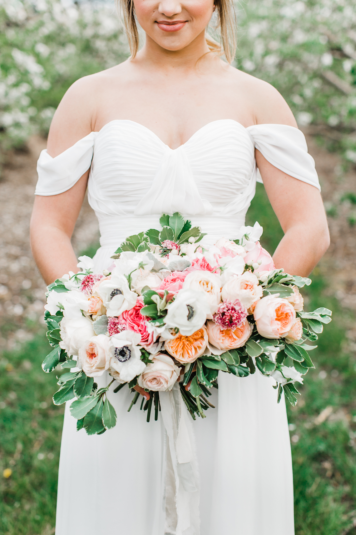Bright and Colorful Apple Blossom Orchard Wedding Inspiration | Shanell Photography & Mitten Weddings and Events 25