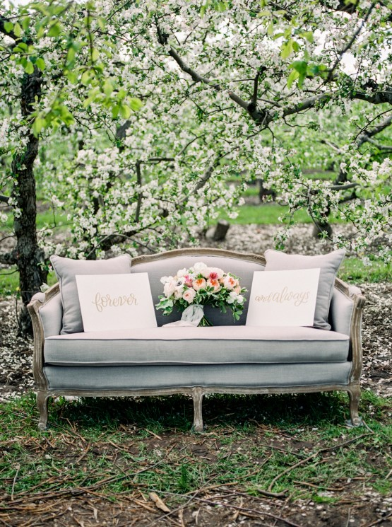 Bright and Colorful Apple Blossom Orchard Wedding Inspiration | Shanell Photography & Mitten Weddings and Events 52