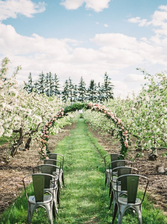 Bright and Colorful Apple Blossom Orchard Wedding Inspiration | Shanell Photography & Mitten Weddings and Events 55