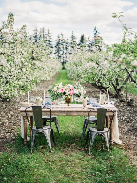 Bright and Colorful Apple Blossom Orchard Wedding Inspiration | Shanell Photography & Mitten Weddings and Events 57