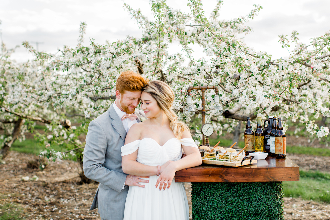 Bright and Colorful Apple Blossom Orchard Wedding Inspiration | Shanell Photography & Mitten Weddings and Events 75