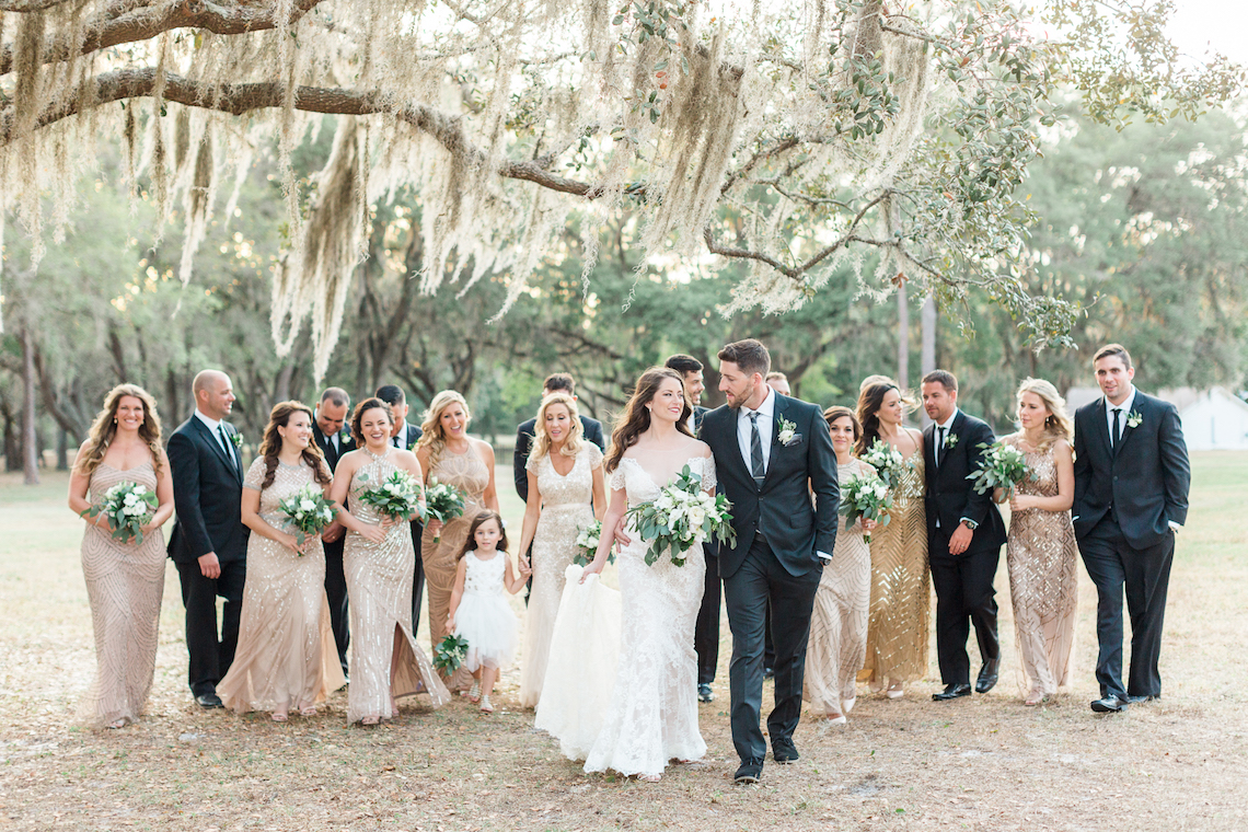 Gilded Florida Farm Wedding with an Adorable Golden Pup | Lauren Galloway Photography 58