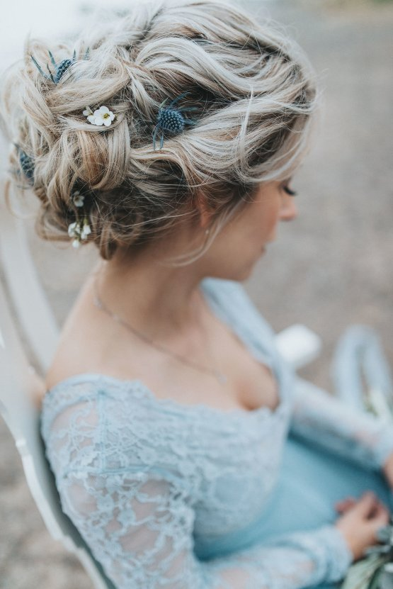 Stormy Scandinavian Wedding Inspiration Featuring a Dramatic Blue Gown | Snowflake Photo 45