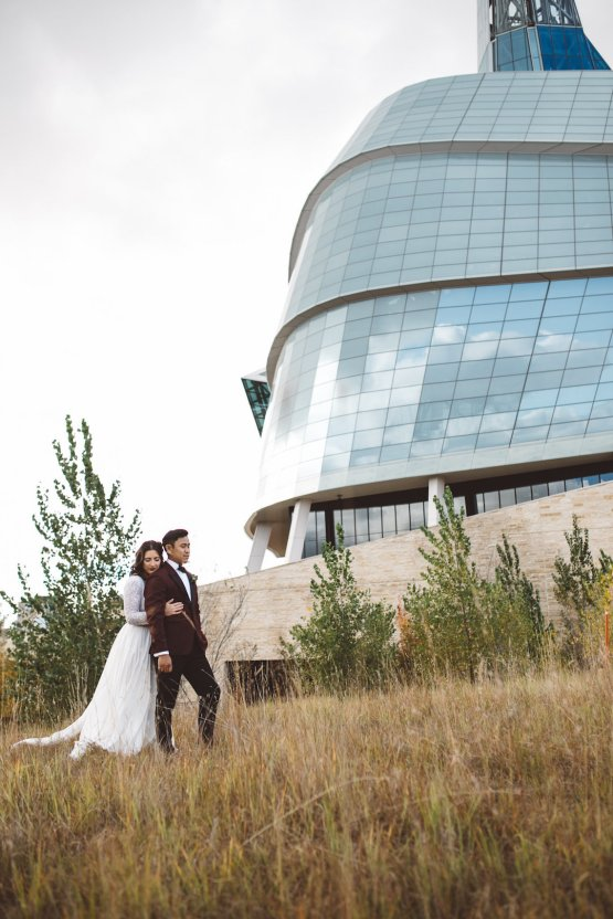 Super Stylish Moody Art Gallery Wedding