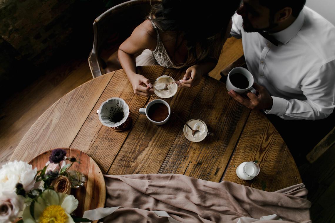 Cozy & Intimate Coffee Shop Elopement Inspiration | Grace Niu Avila 4