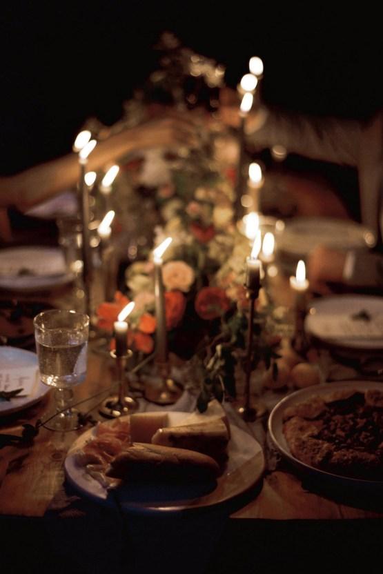 Romantic Candlelit Wedding Inspiration Full of Drama | Megan Wynn 11