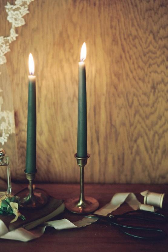 Romantic Candlelit Wedding Inspiration Full of Drama | Megan Wynn 13