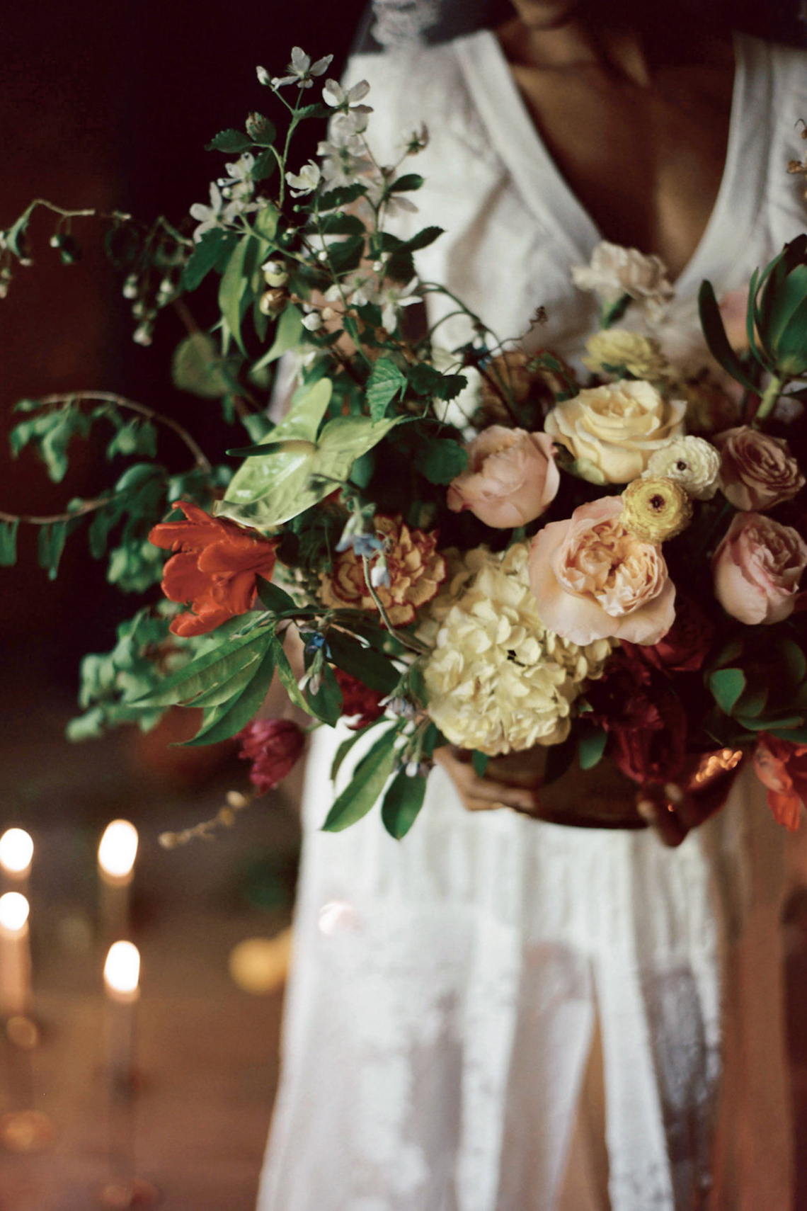 Romantic Candlelit Wedding Inspiration Full of Drama | Megan Wynn 19