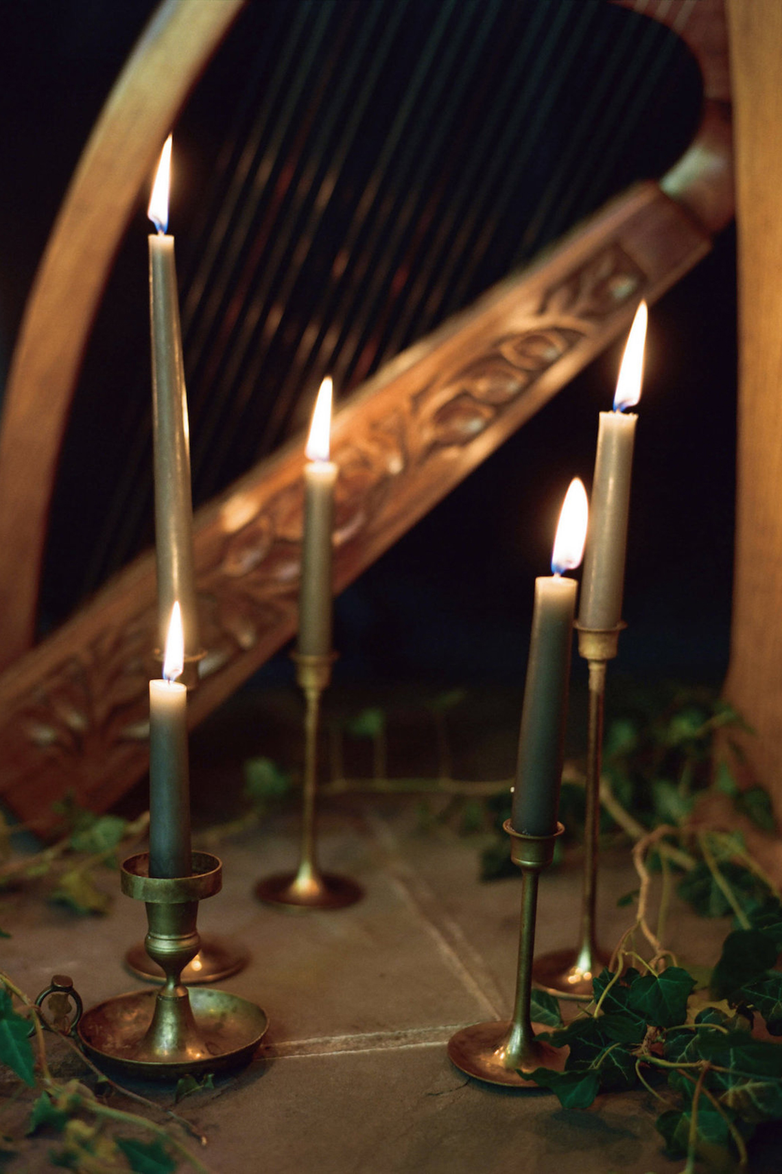 Romantic Candlelit Wedding Inspiration Full of Drama | Megan Wynn 26