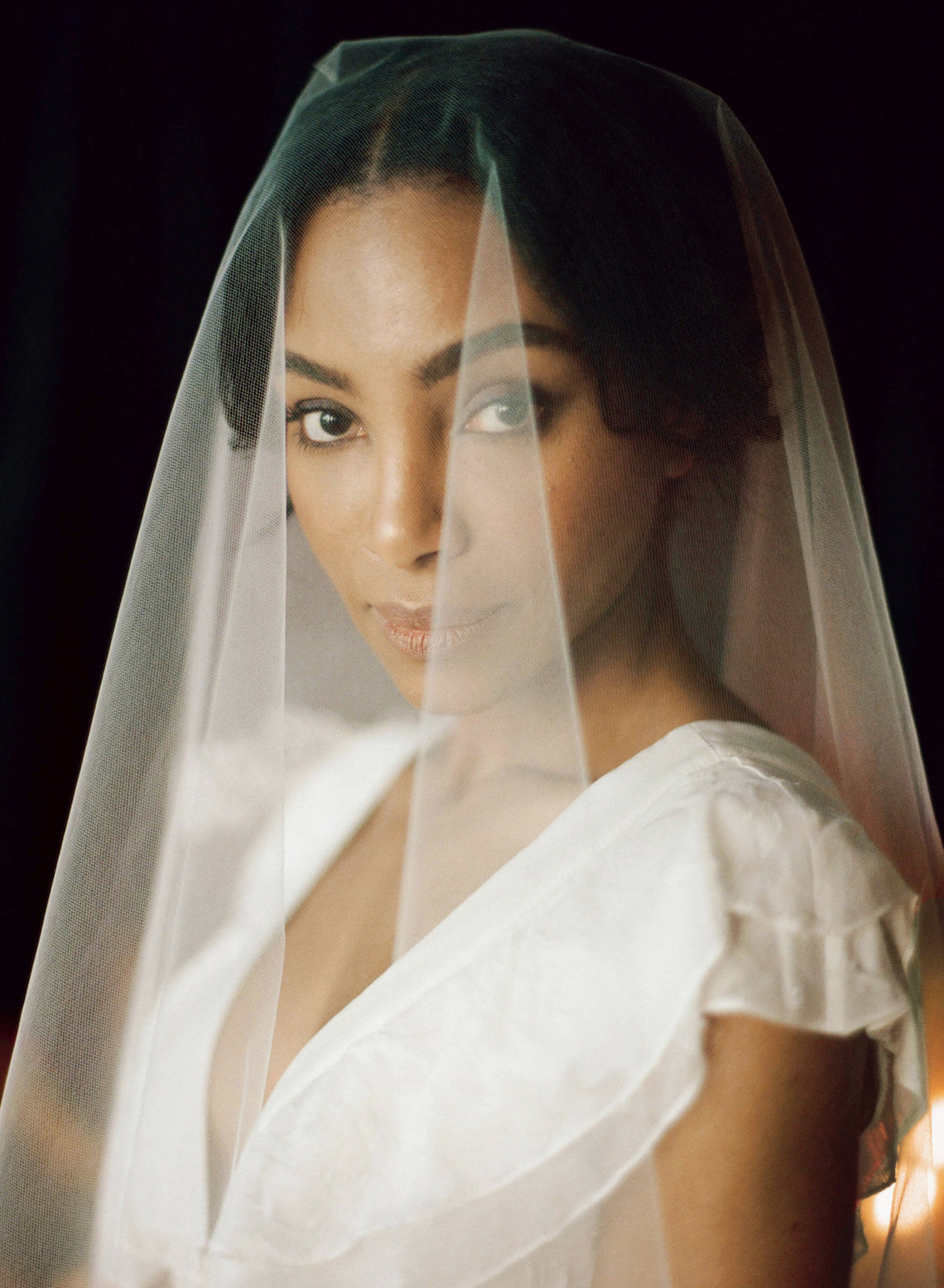 Romantic Candlelit Wedding Inspiration Full of Drama | Megan Wynn 34