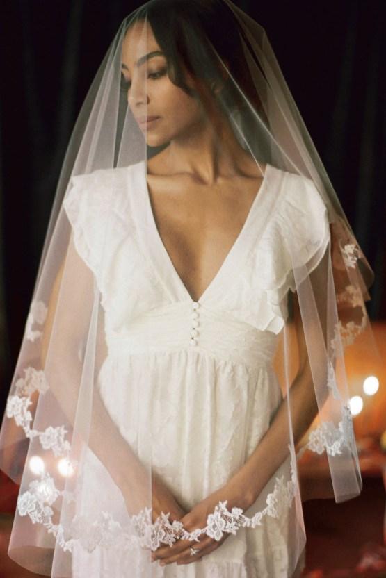 Romantic Candlelit Wedding Inspiration Full of Drama | Megan Wynn 35