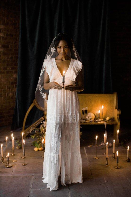 Romantic Candlelit Wedding Inspiration Full of Drama | Megan Wynn 38