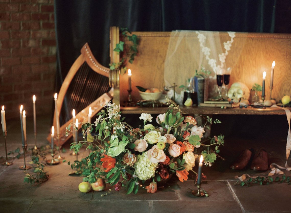 Romantic Candlelit Wedding Inspiration Full of Drama | Megan Wynn 4