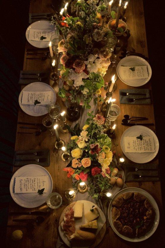 Romantic Candlelit Wedding Inspiration Full of Drama | Megan Wynn 43