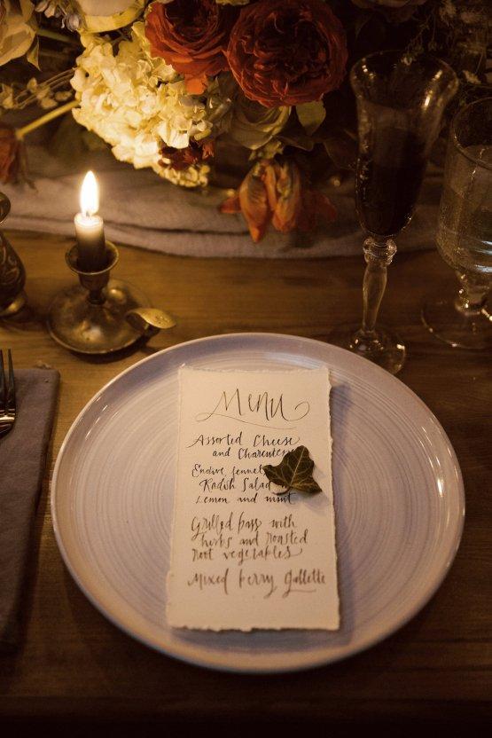 Romantic Candlelit Wedding Inspiration Full of Drama | Megan Wynn 45