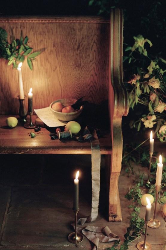 Romantic Candlelit Wedding Inspiration Full of Drama | Megan Wynn 5