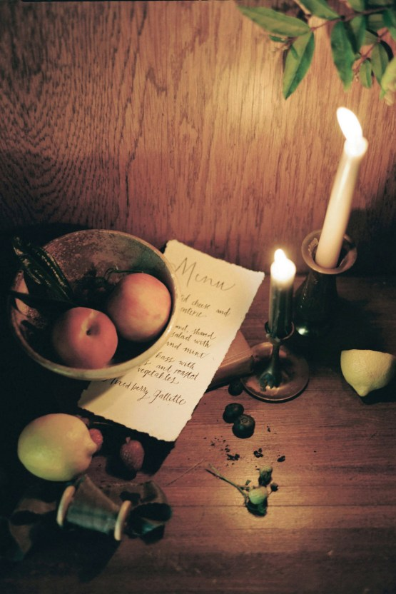 Romantic Candlelit Wedding Inspiration Full of Drama | Megan Wynn 9