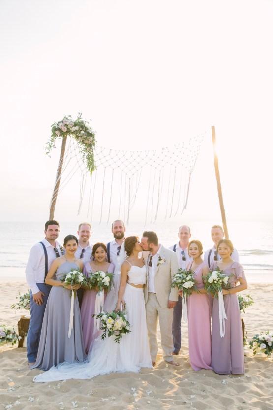 The Dreamiest Sunset Beach Wedding in Thailand | Darin Images 40
