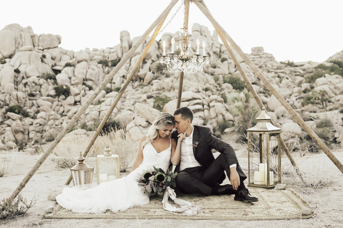 Boho Chic Elopement Inspiration with a Cool Teepee Altar | Maya Lora Photography 34