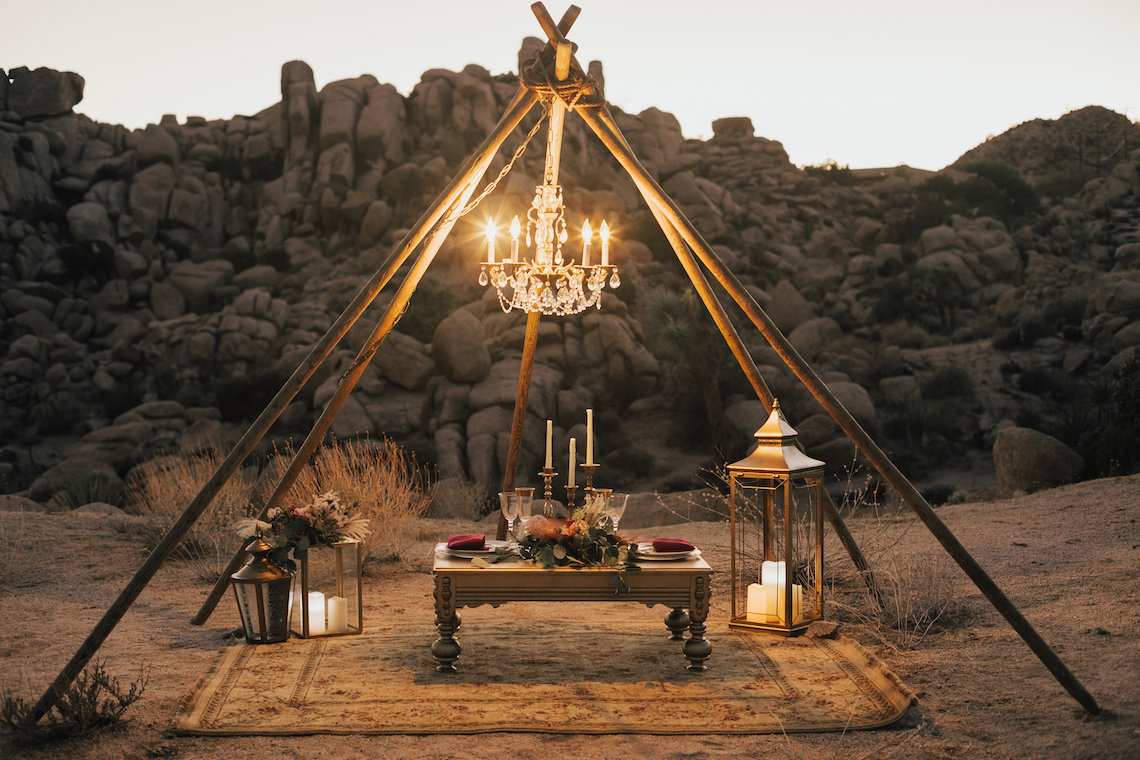Boho Chic Elopement Inspiration with a Cool Teepee Altar | Maya Lora Photography 36