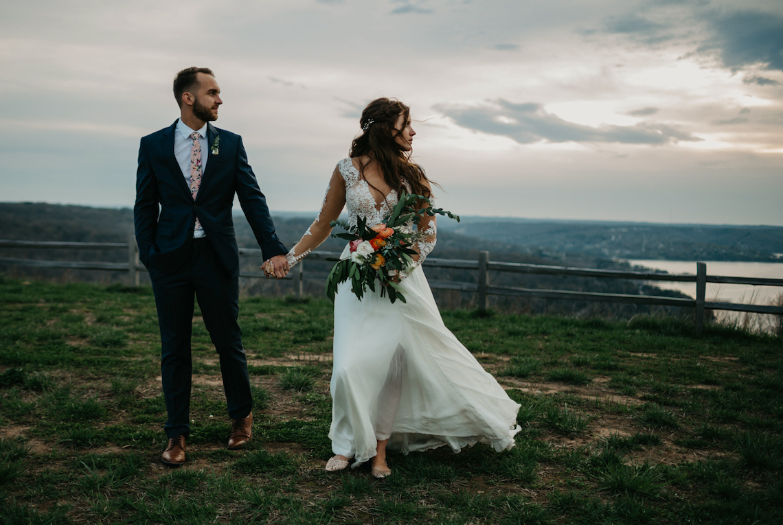 Boho Ozarks Wedding in an Magnificent Hilltop Chapel | Unveiled Radiance Photography 11