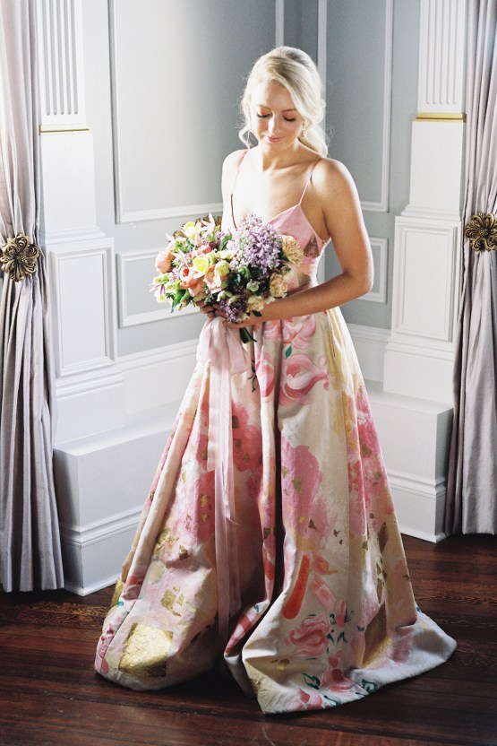 Bright & Colorful Wedding Inspiration With An Incredible Floral Dress | Rosencrown Photography 30