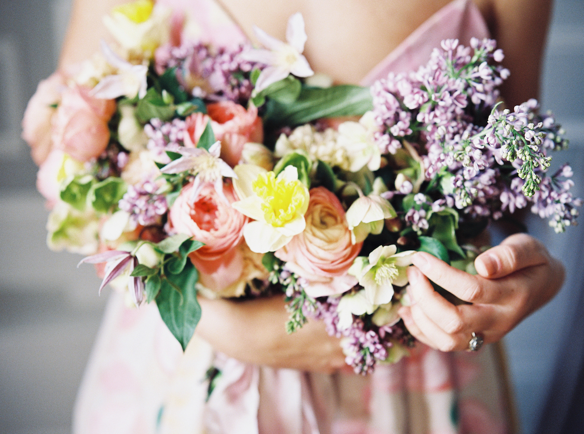 Bright & Colorful Wedding Inspiration With An Incredible Floral Dress | Rosencrown Photography 4