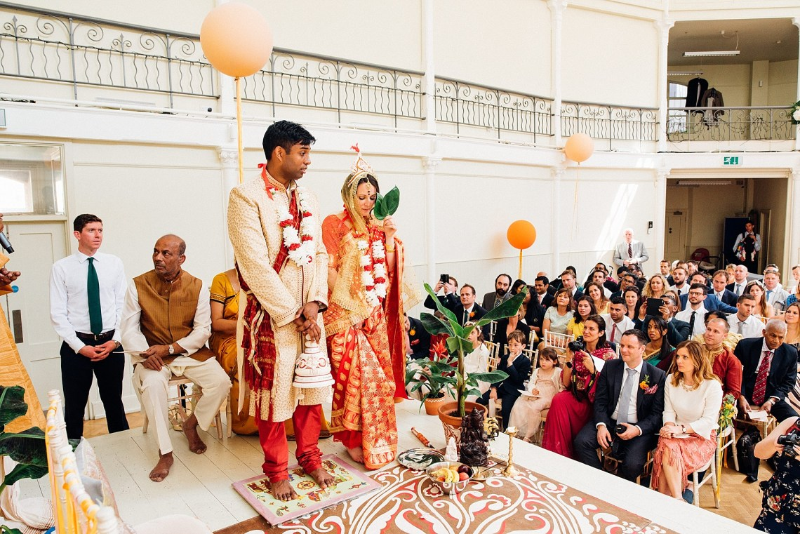 Colorful Anglo-Hindu Fusion Wedding With A Parade Of Indian Drummers | Parrot and Pineapple Photography 17