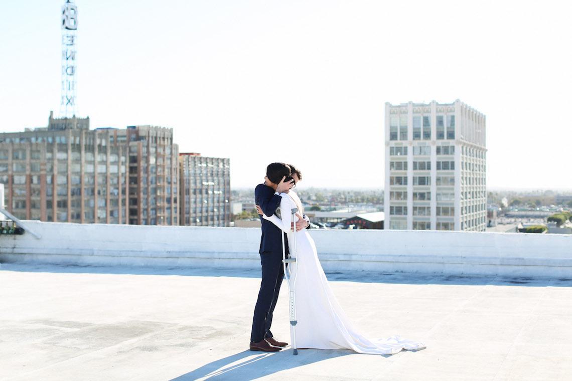 Colorful Rooftop Wedding With Geometric Modern Designs | Christian + Reinna Cruz 11