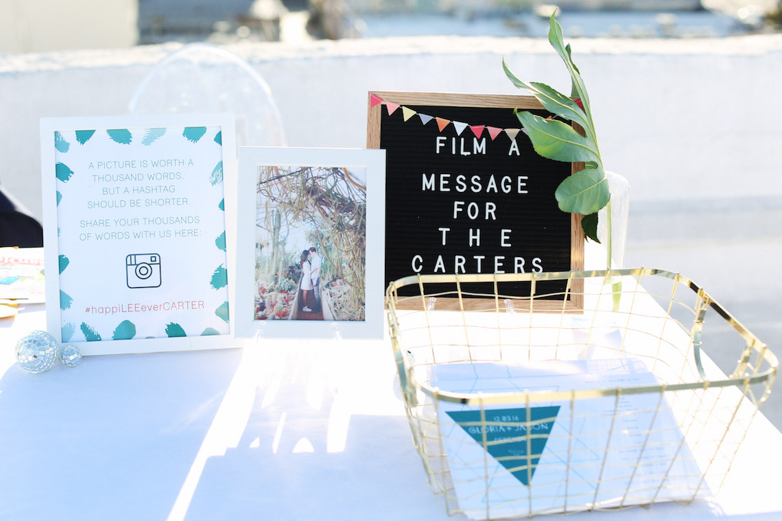 Colorful Rooftop Wedding With Geometric Modern Designs | Christian + Reinna Cruz 21