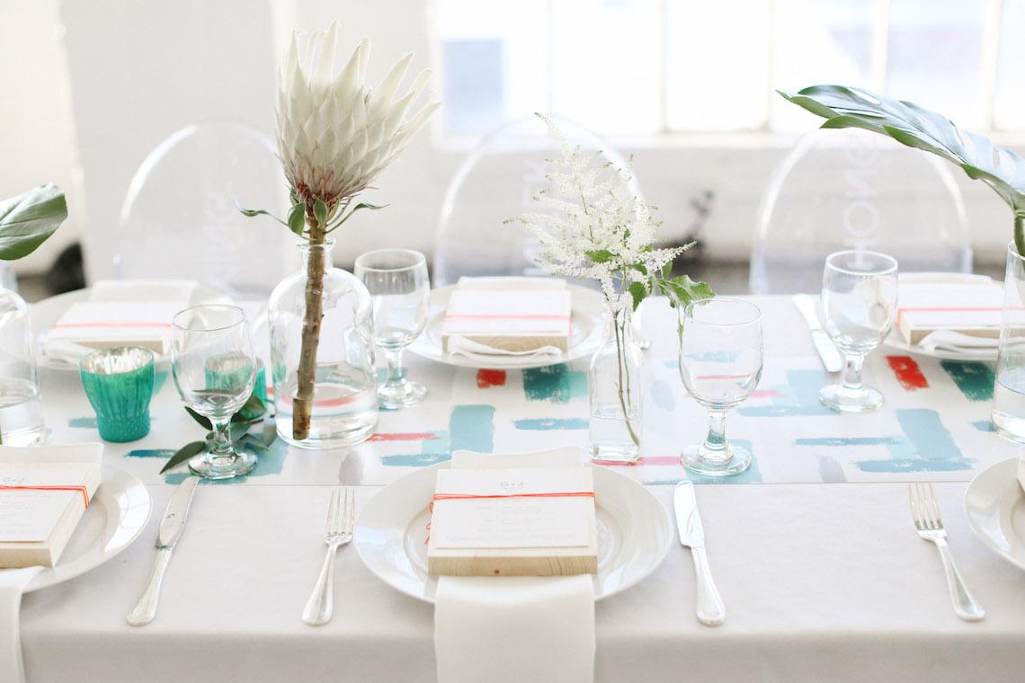 Colorful Rooftop Wedding With Geometric Modern Designs | Christian + Reinna Cruz 31