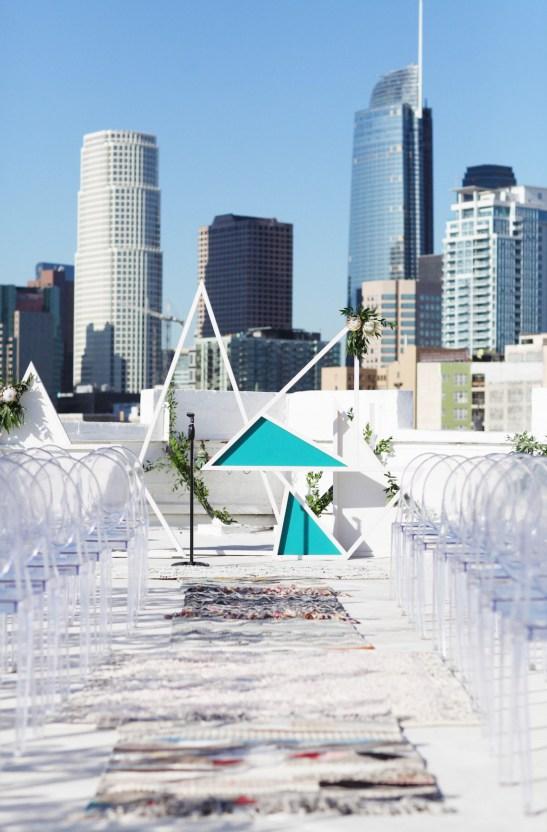 Colorful Rooftop Wedding With Geometric Modern Designs | Christian + Reinna Cruz 50