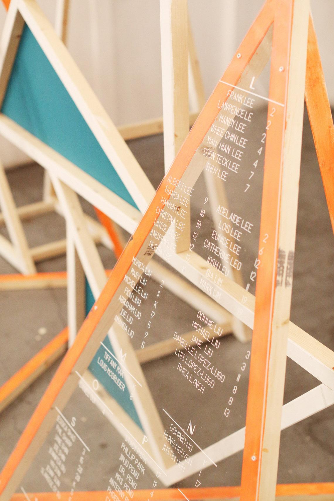 Colorful Rooftop Wedding With Geometric Modern Designs | Christian + Reinna Cruz 68