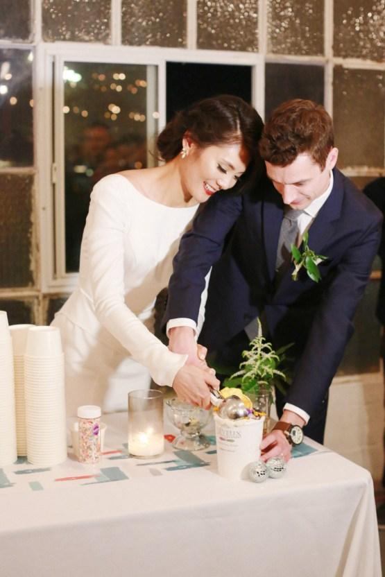 Colorful Rooftop Wedding With Geometric Modern Designs | Christian + Reinna Cruz 77