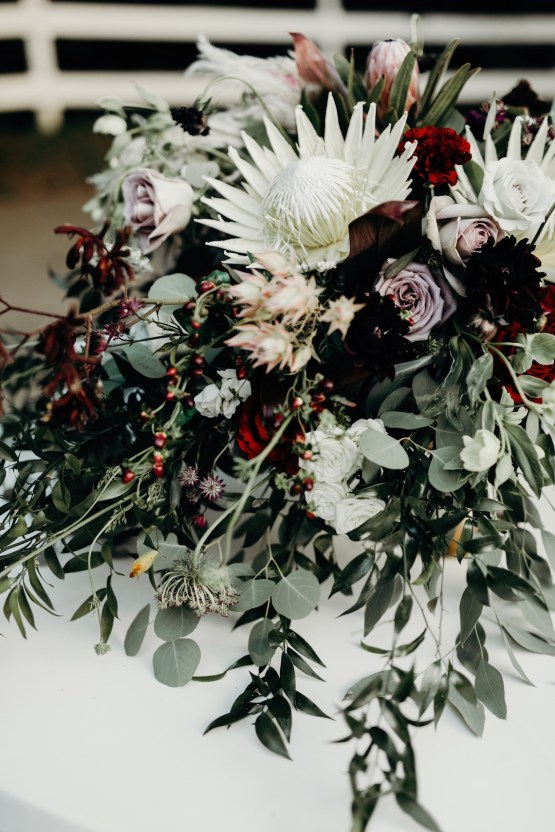 Cool Pampas Grass Wedding With Deep Berry Tones | Cedarwood Weddings 66