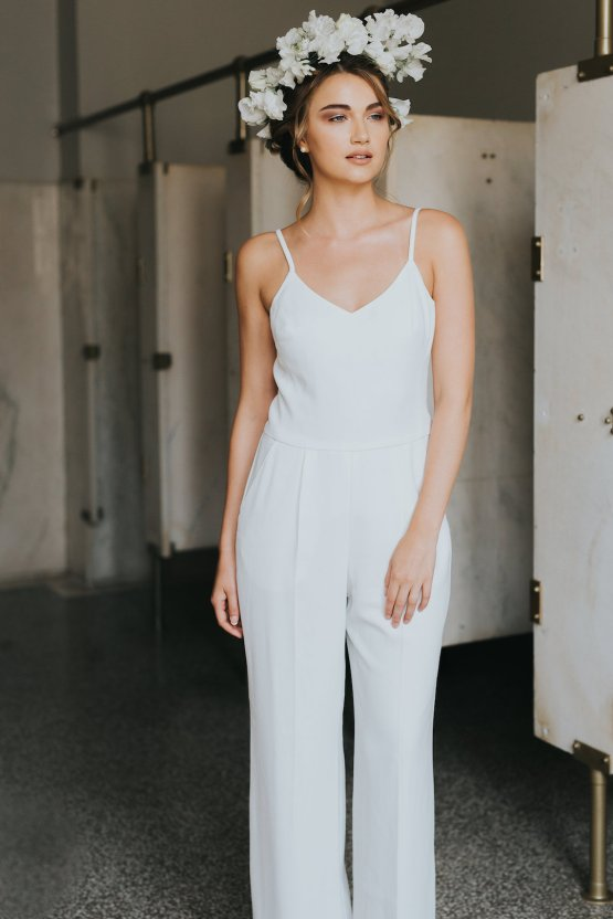 Cool Courthouse Wedding Inspiration Featuring A Bridal Jumpsuit   Rachel Birkhofer Photography 11