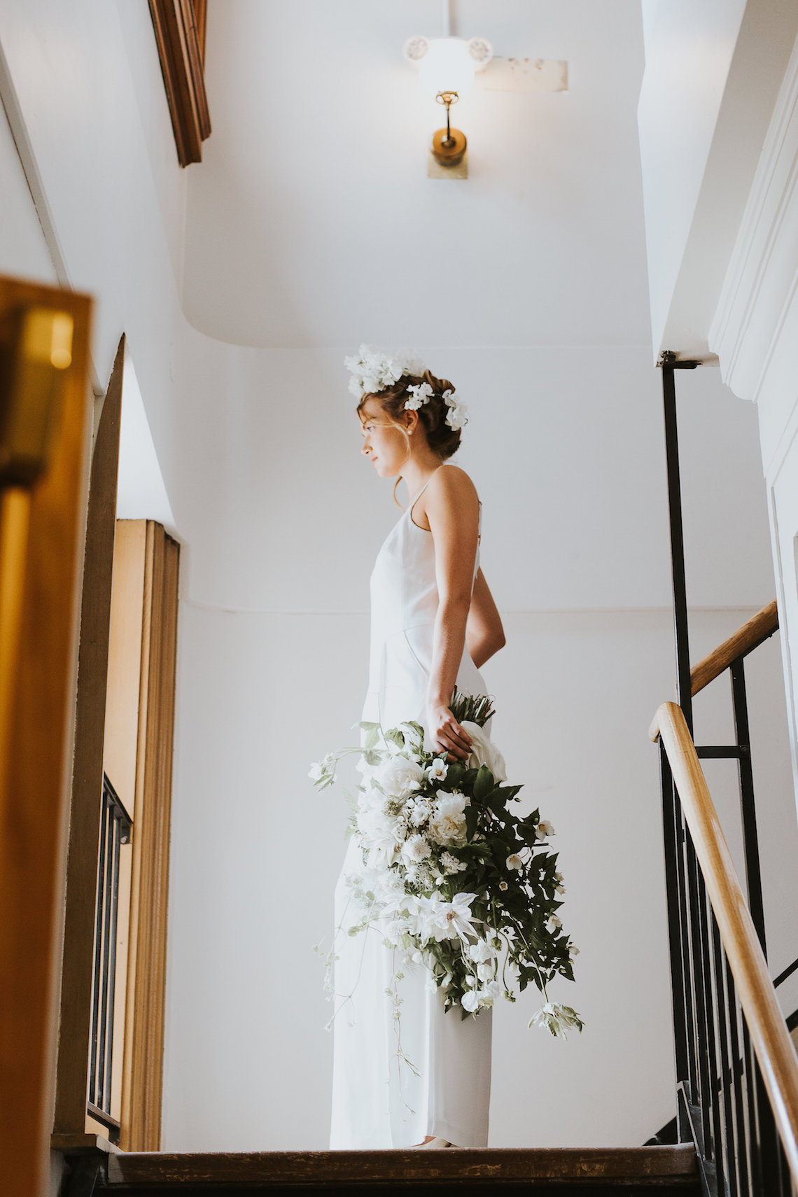 Cool Courthouse Wedding Inspiration Featuring A Bridal Jumpsuit   Rachel Birkhofer Photography 15
