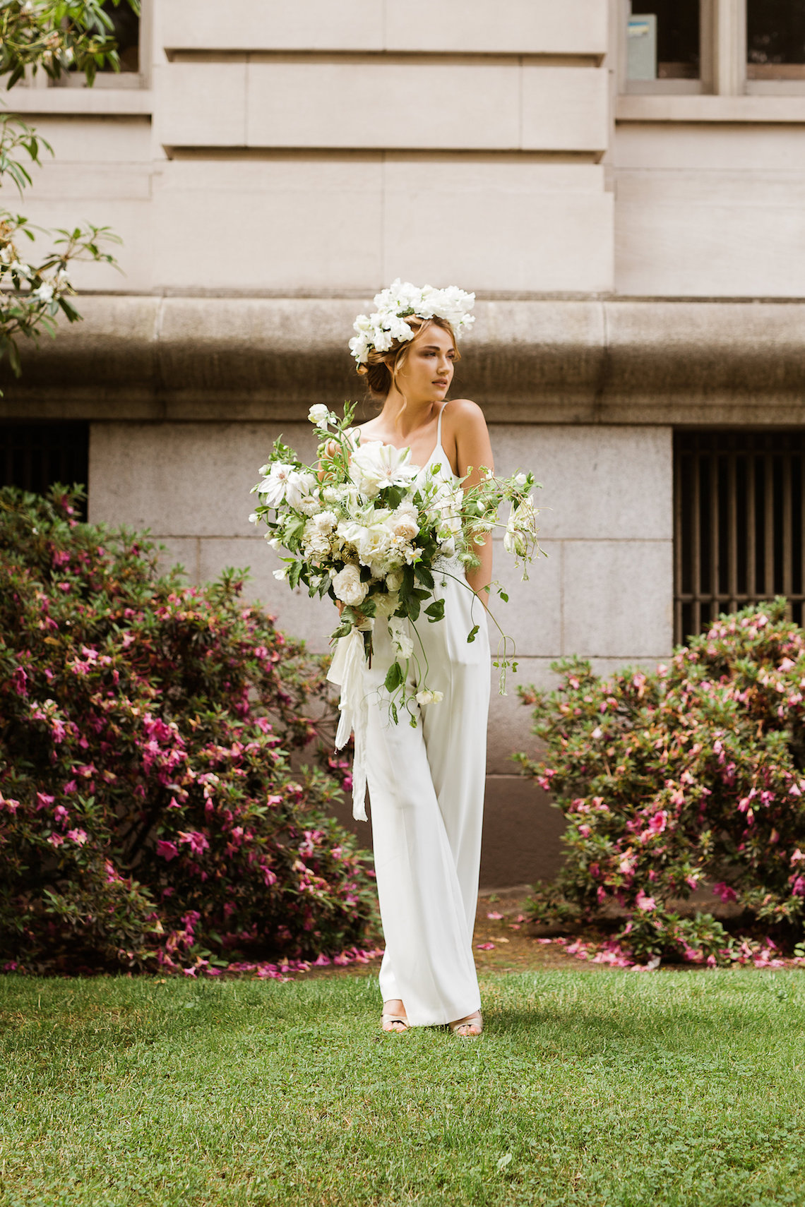 Cool Courthouse Wedding Inspiration Featuring A Bridal Jumpsuit | Rachel Birkhofer Photography 19