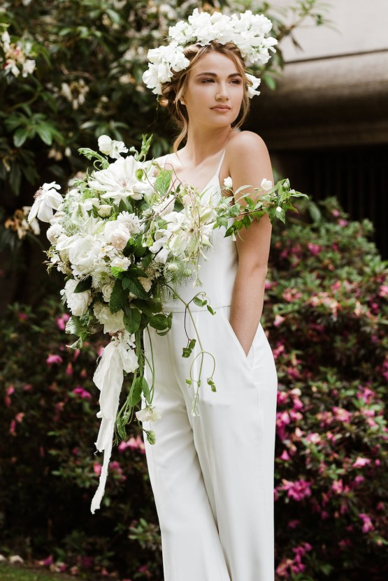Cool Courthouse Wedding Inspiration Featuring A Bridal Jumpsuit   Rachel Birkhofer Photography 20