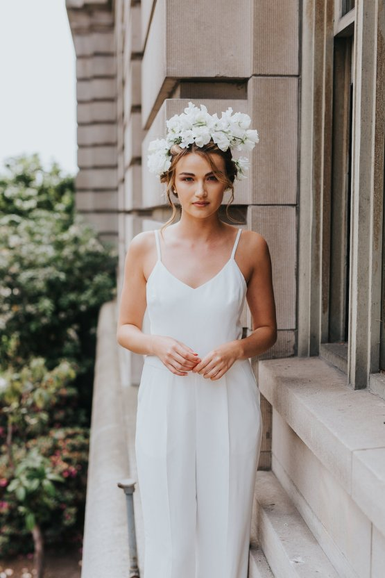 Cool Courthouse Wedding Inspiration Featuring A Bridal Jumpsuit | Rachel Birkhofer Photography 23