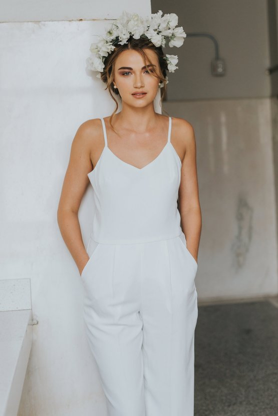 Cool Courthouse Wedding Inspiration Featuring A Bridal Jumpsuit   Rachel Birkhofer Photography 9