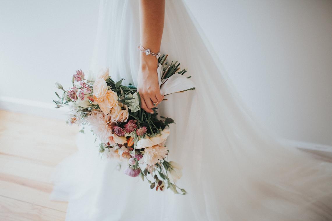 Light & Airy Peach Wedding Inspiration with Bridal Separates | Sara Gatlin Photo 11